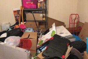 messy hoarder estate