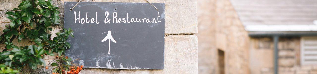 Hotel & restaurant chalk board