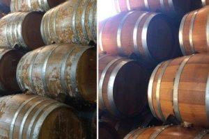 Mould cleaning on oak barrels
