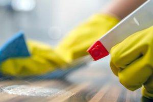 Sanitising cleaning